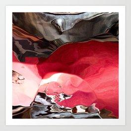 Ruby between the Rocks Art Print
