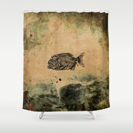 Piranha Shower Curtain