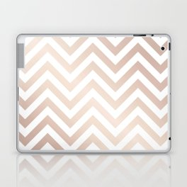 Chevron rose gold and white Laptop & iPad Skin