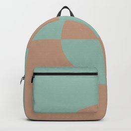 Sand Storm Beige Pastel Mint Green Circle Design 2 2021 Color of the Year Canyon Dusk Spring Stream Backpack