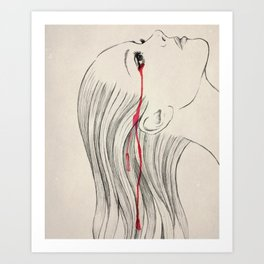 Tears 2 Art Print