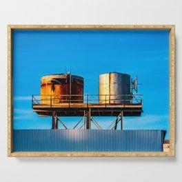 Water Tanks. Amboy. California. USA. Serving Tray