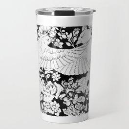Flying Sparrows Illustration Travel Mug