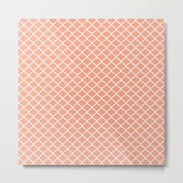 Pink Quatrefoil Metal Print