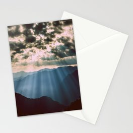 mountainS Dark Sunset Stationery Cards