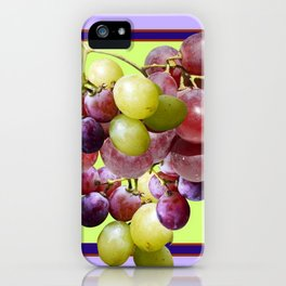 CLUSTER WINE GRAPES VINEYARD DESIGN iPhone Case