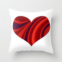 Fractal Big Heart Throw Pillow