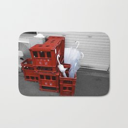 red crates Bath Mat