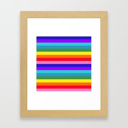 Stripes of Rainbow Colors Framed Art Print