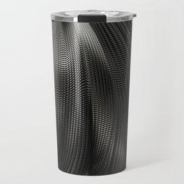 Black Steel Abstraction Travel Mug