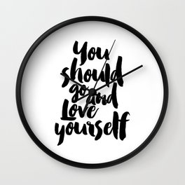 Love yourself,Purpose album,Justin,Bieber,Song Lyrics,Gift for her,Gift for Valentines,Gift for girl Wall Clock