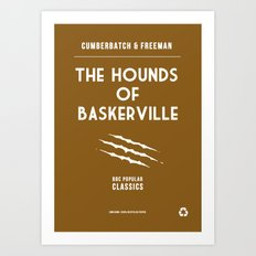 BBC Sherlock The Hounds of Baskerville Minimalist Poster Art Print