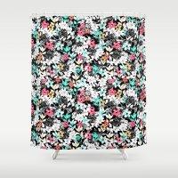 flora Shower Curtains featuring Flora by Melanie Gow