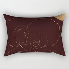 African American couple magic melanin beauty, dark skin girl, black girl, afro girl, loving couple, happy couple Rectangular Pillow