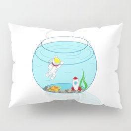 Space Fishbowl | Astronaut Fishbowl | Swimming Astronaut | Space in a Fishbowl | pulps of wood Pillow Sham