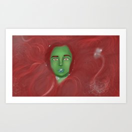 The girl with the red hair Art Print