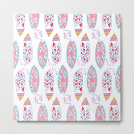 Surfing dream II // Collection // Surface pattern design Metal Print