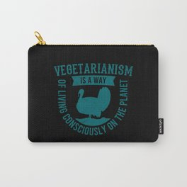 VEGETARIAN QUOTES VEGETARIAN Gift Animal Carry-All Pouch