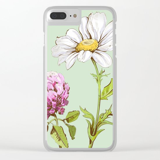 Flowers 103 Clear iPhone Case