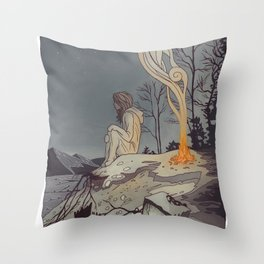 Pixels and Dust Throw Pillow