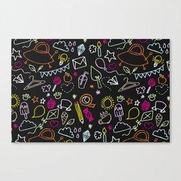 chalkboard doodles Canvas Print