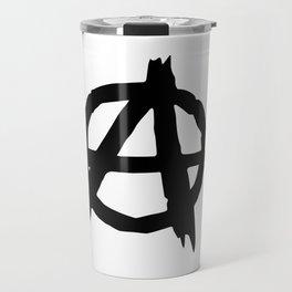 Anarchy Logo Symbol Painting (A) Travel Mug