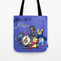 allison argent Tote Bags featuring PokeWolf: Allison Argent by Trickwolves