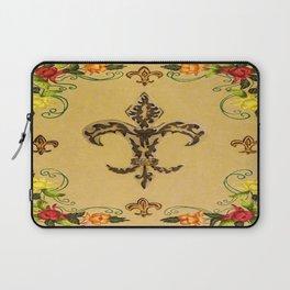 Fluer de lis (warm) Laptop Sleeve