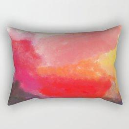 Red, Black and Yellow Mosaic Rectangular Pillow