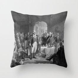 Washington Meeting His Generals Throw Pillow
