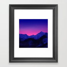 Dawn in Mountains Framed Art Print