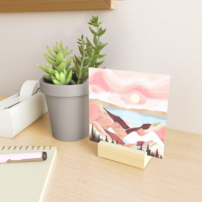 Autumn Lake Sunrise Mini Art Print