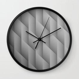 Gradient Gray Diamonds Geometric Shapes Wall Clock