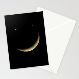 Starry Eyed Moon Stationery Cards