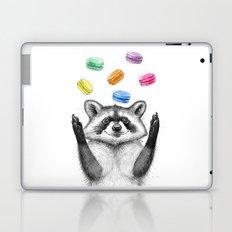 raccoon with cookies Laptop & iPad Skin