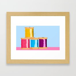 Spools Of thread Framed Art Print