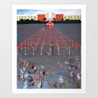 onward Art Prints featuring Onward by kat silver