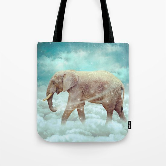 Walk With the Dreamers (Elephant in the Clouds) Tote Bag