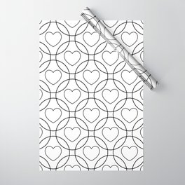 Decor with circles and hearts Wrapping Paper