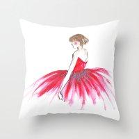 ballerina Throw Pillows featuring Ballerina !!  by RD D