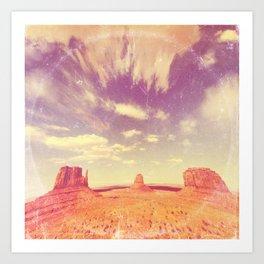 Navajo Country - America As Vintage Album Art Art Print