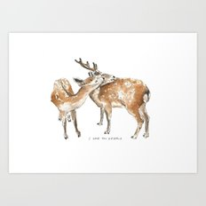I Love You Deerly  Art Print