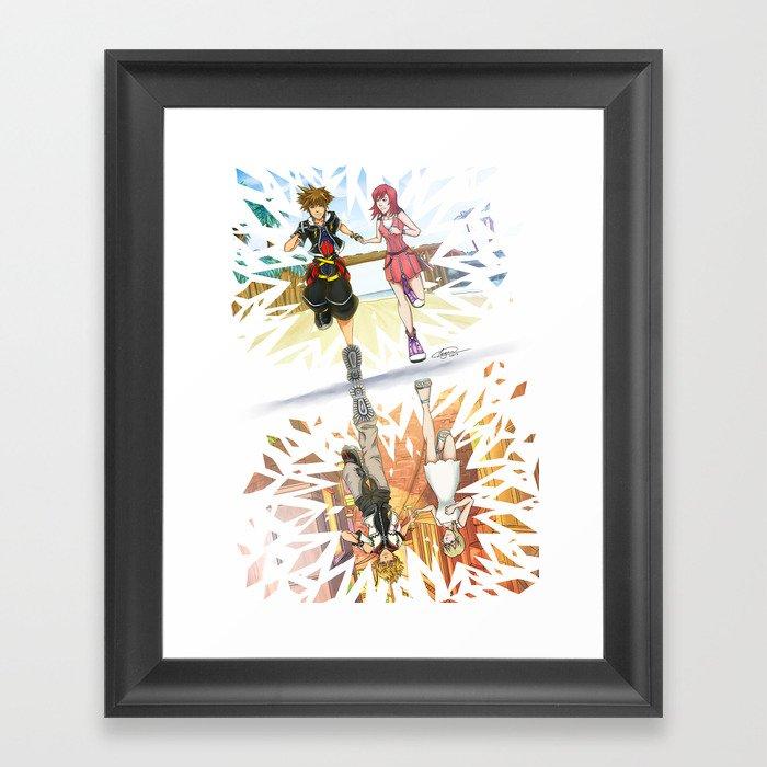 One Sky - Kingdom Hearts Framed Art Print