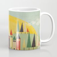 rushmore Mugs featuring Rushmore by Kayla Cole