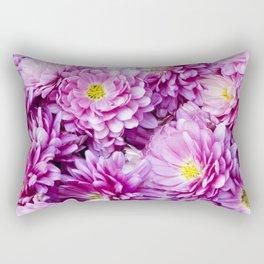 Padre Cerise Belgian Mum 'Bouquet' Rectangular Pillow