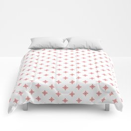 Christmas Heart Snowflakes Red & White Comforters