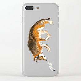 Italian Wolf & Stoat (c) 2017 Clear iPhone Case