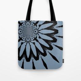The Modern Flower Blue-Gray Tote Bag