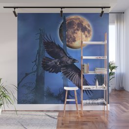 Raven Moon Wall Mural