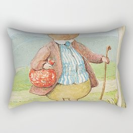 Pigling Bland by Beatrix Potter Rectangular Pillow